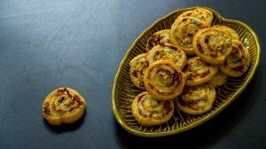 savory puff pastry pinwheel appetizers
