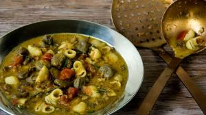 pasta & fava beans soup
