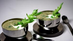 soupe aux légumes verts