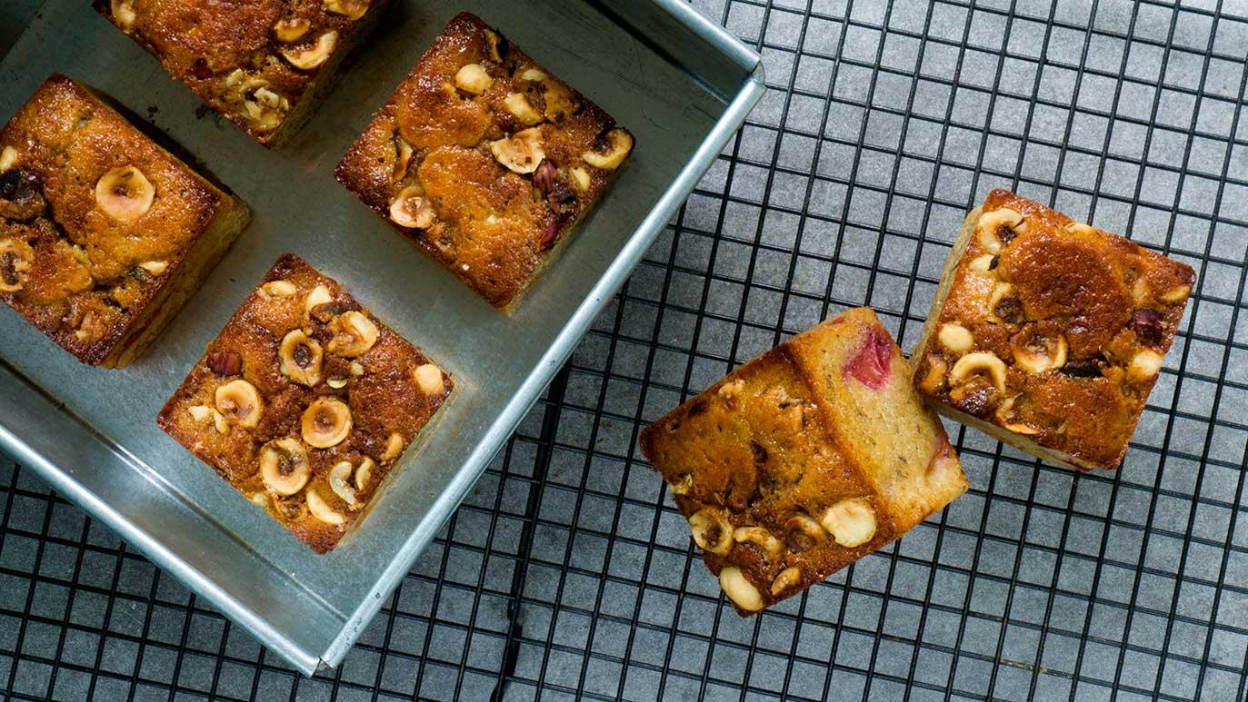 "nectarine & hazelnut ""knuckle-buckle"" cakes"