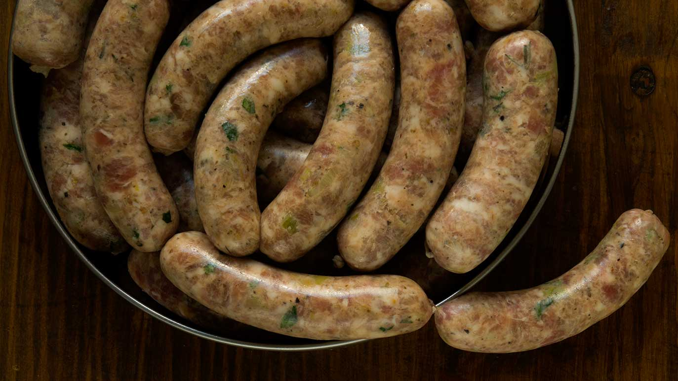 for the love of italy : pork & fennel sausages