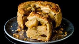 tarte 'galets' aux pommes pochées