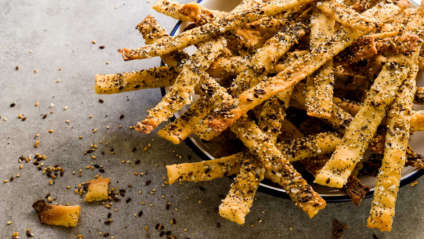 salty & seedy sourdough breadsticks