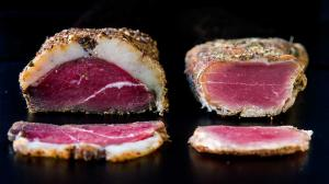 7-days home-cured & dried duck breast & pork filet mignon