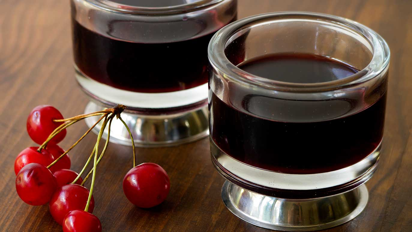 red sour cherry wine «for those summer blues»