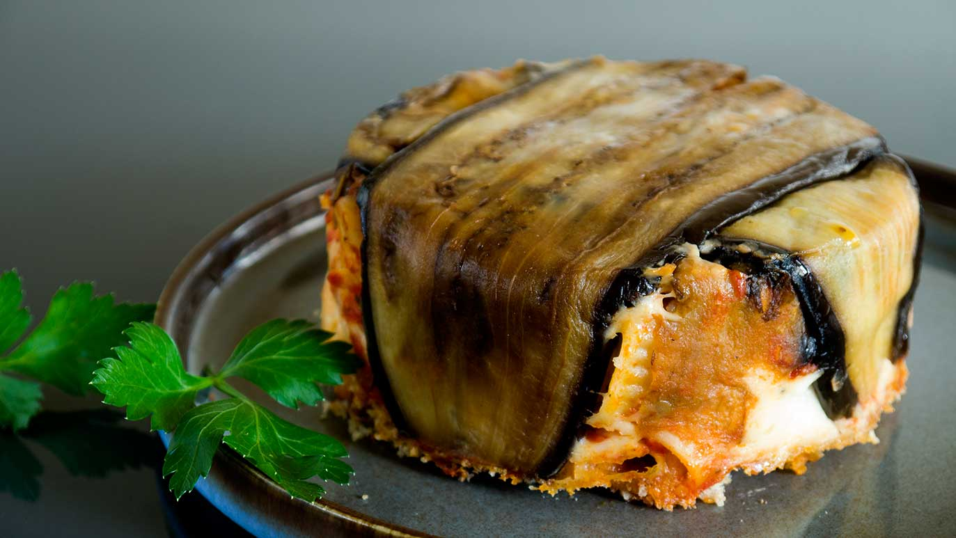 'riggidanella' eggplant oven-baked pasta cakes