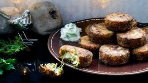 kolokithokeftedes : greek feta & zucchini fritters 'my new way'