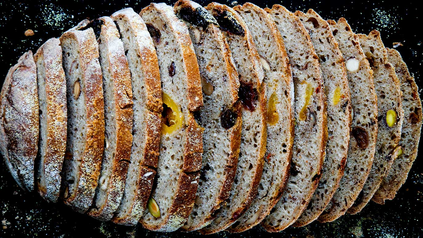 'treasures' apple cider bread with dried fruits & nuts & seeds