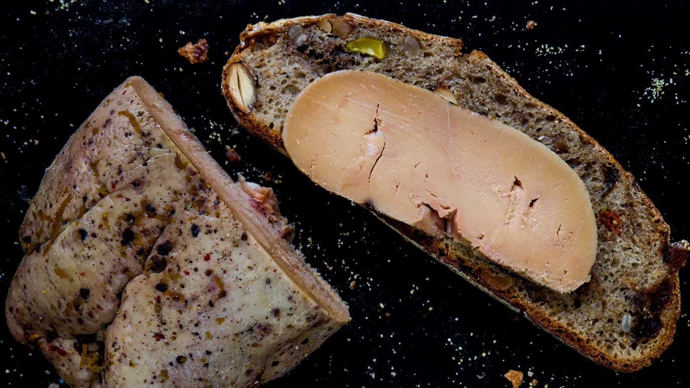 holiday-spiced & salt-cured foie gras