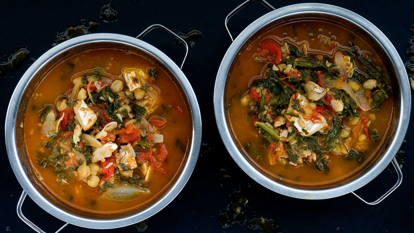 'potaje' spanish cod & spinach & chickpea stew