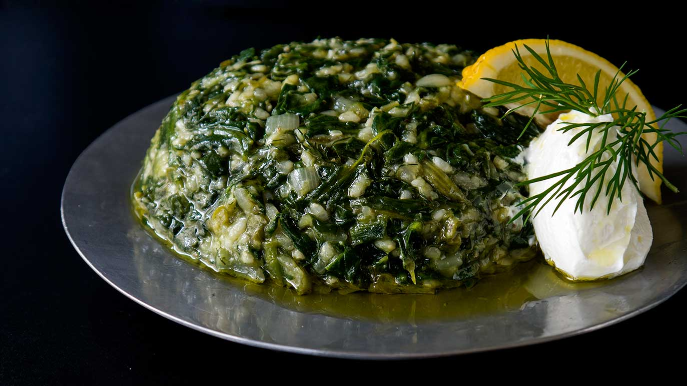 spanakorizo - spinach & rice dish