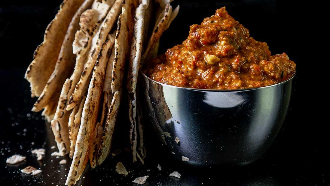 muhammara - roasted red pepper & walnut dip