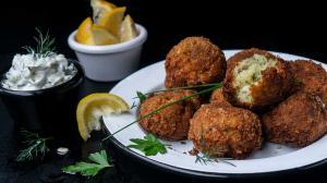 salt cod fish croquettes - 'bolinhos de bacalhau'