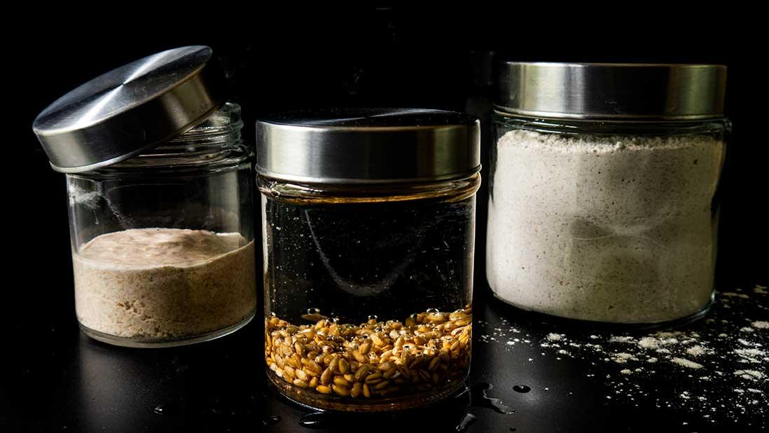 levain-chef au blé complet & seigle & sarrasin en 14 jours (plus long mais infaillible)