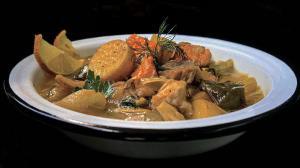 """ragoût """"psarosoupa"""" automnale & léger aux poissons & légumes à la grecque"""