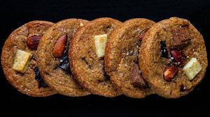 thick & chewy chocolate chunk & roasted almond cookies