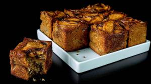 spiced apple cakes with olive oil & buckwheat