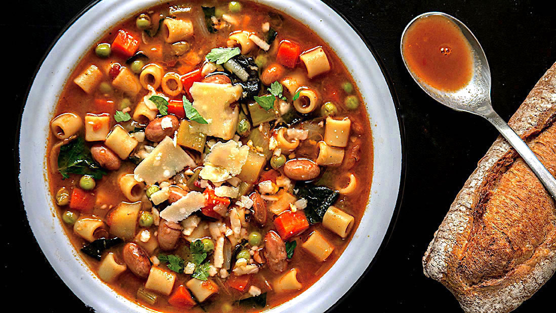 egalitarian & equal opportunity minestrone soup