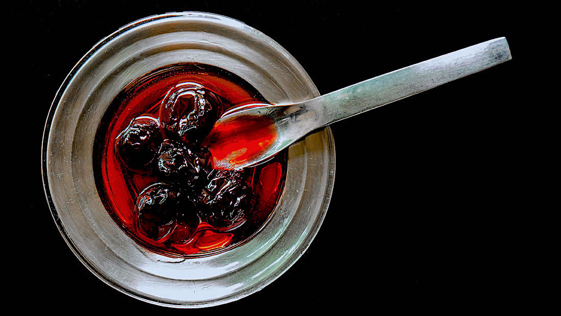 cherries in syrup «spoon sweets» preserves