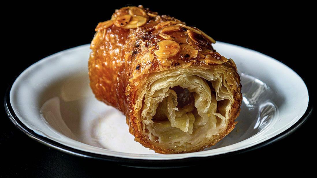 rolled apple & filo baklava crown