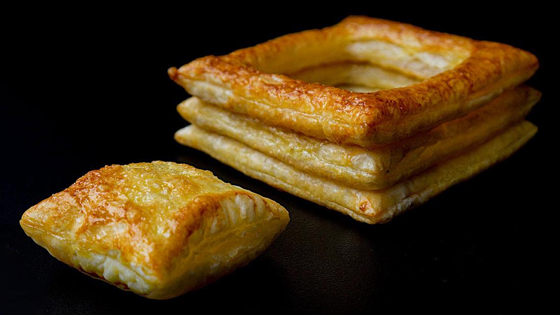 «vol-au-vent» croustades de pâte feuilletée