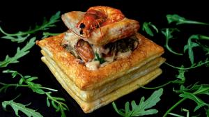 seafood vol-au-vent puff-pastry starters