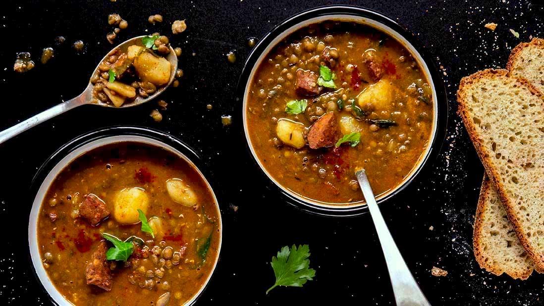 potage espagnole aux lentilles & chorizo