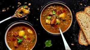 spanish lentil & chorizo stew