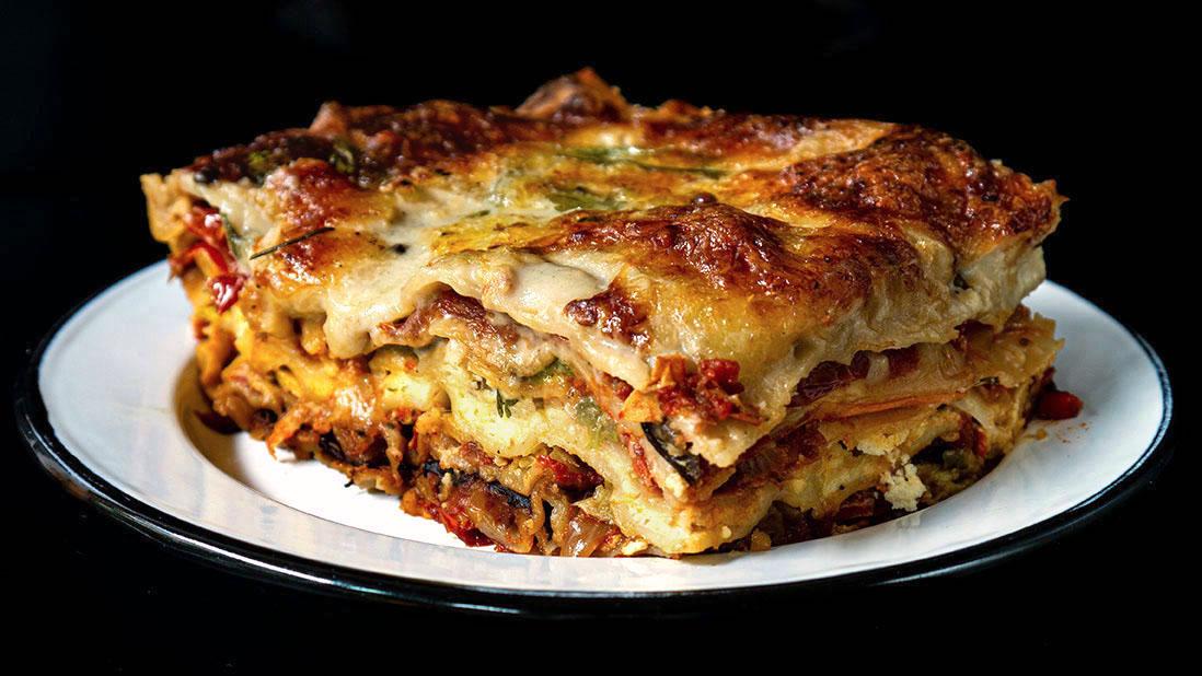 roasted summer vegetable ratatouille lasagna