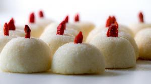 coconut balls with goji berries