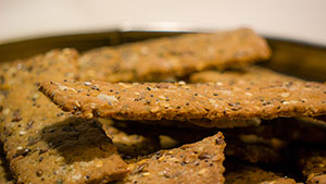 crispy seed crackers